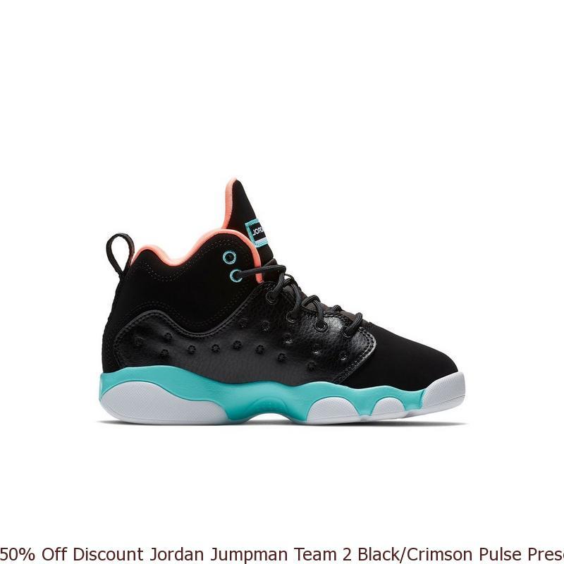c35bd9bd2c0b 50% Off Discount Jordan Jumpman Team 2 Black Crimson Pulse Preschool ...