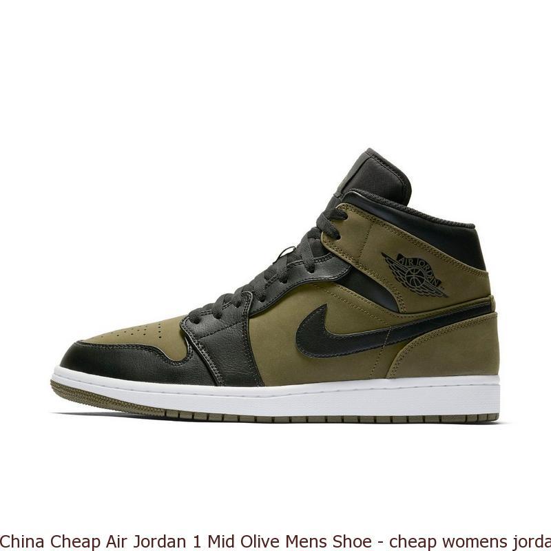 China Cheap Air Jordan 1 Mid Olive Mens