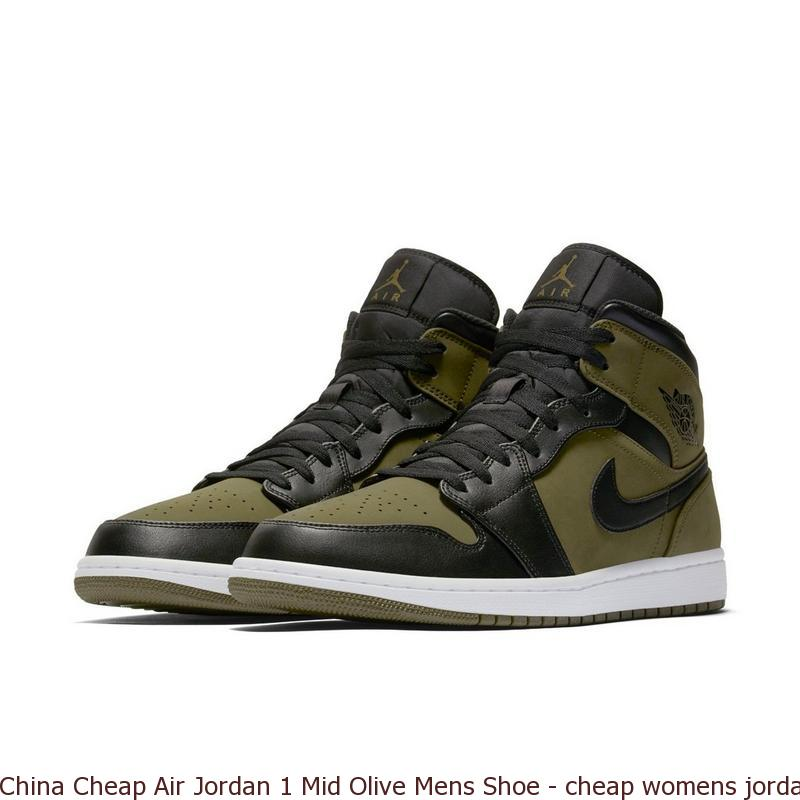 China Cheap Air Jordan 1 Mid Olive Mens Shoe , cheap womens jordans shoes ,  Q0195