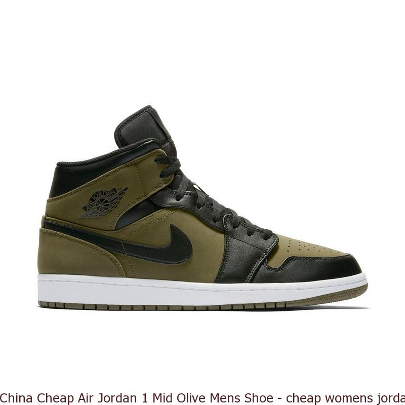 China Cheap Air Jordan 1 Mid Olive Mens Shoe – cheap womens jordans ... 3ffd85da99