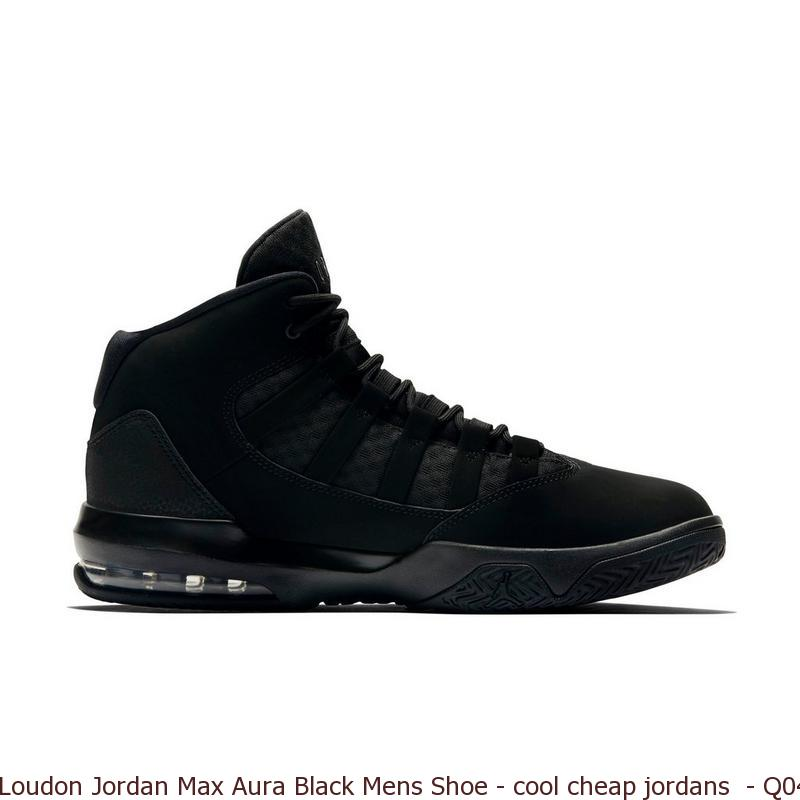 7622c818e9d Loudon Jordan Max Aura Black Mens Shoe – cool cheap jordans – Q0440 ...