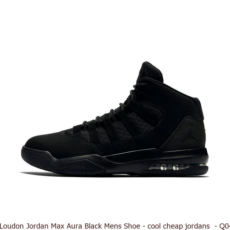 Loudon Jordan Max Aura Black Mens Shoe – cool cheap jordans – Q0440 ... a20ea228b