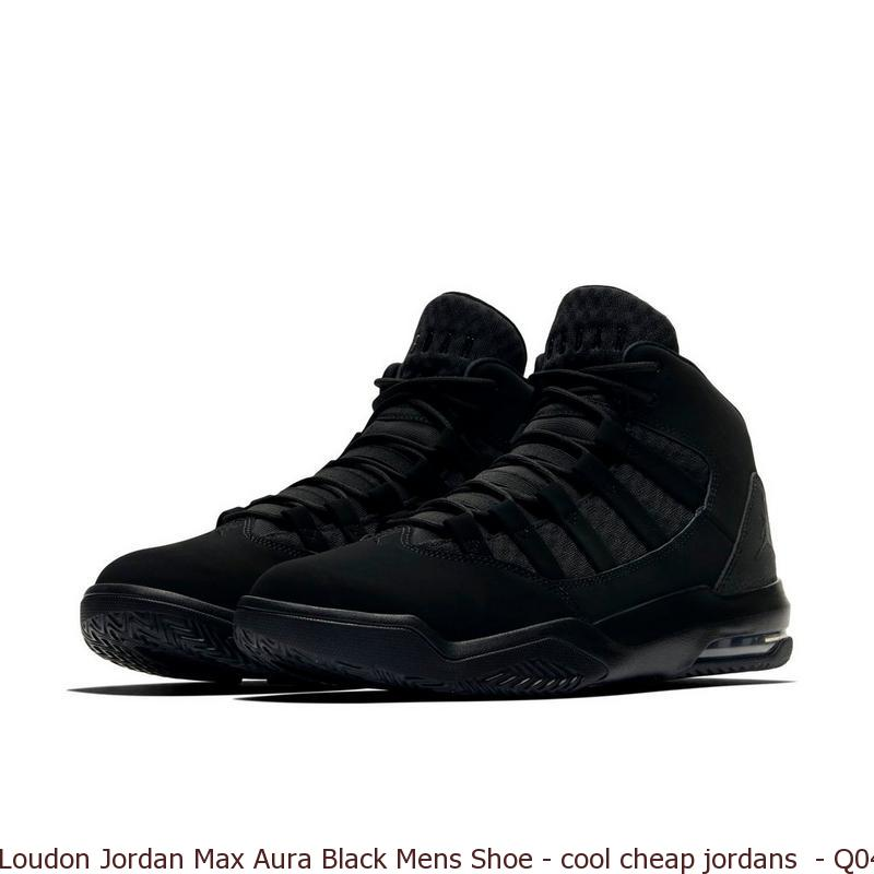 7622c818e9d Loudon Jordan Max Aura Black Mens Shoe – cool cheap jordans – Q0440 ...