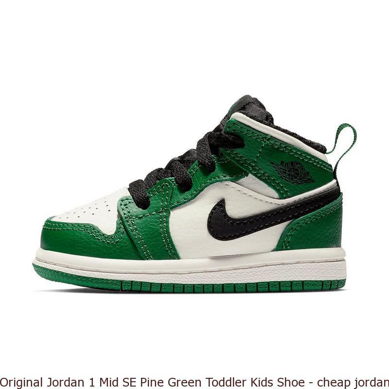 separation shoes 7ba2b 1dcaf Original Jordan 1 Mid SE Pine Green Toddler Kids Shoe - cheap jordans that  are real - R0471