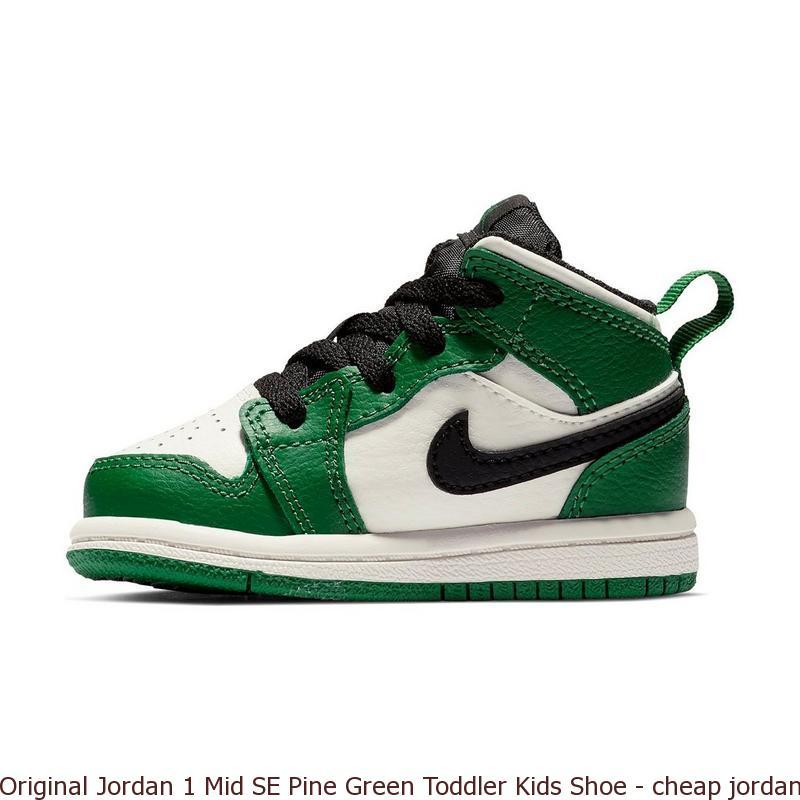 a2cadd8b51b1 Original Jordan 1 Mid SE Pine Green Toddler Kids Shoe – cheap ...
