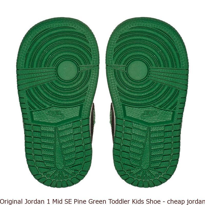 huge selection of 8676d 6409e Original Jordan 1 Mid SE Pine Green Toddler Kids Shoe ...