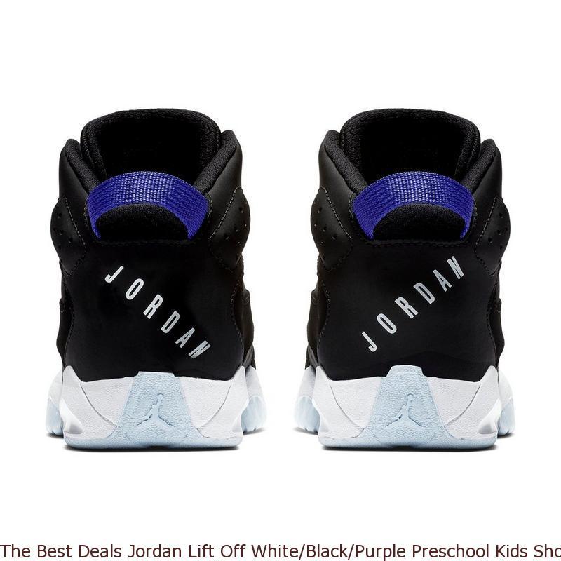 844d29add5b79b The Best Deals Jordan Lift Off White Black Purple Preschool Kids Shoe ...